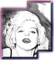 marilyn monroe caricature by ken crouse