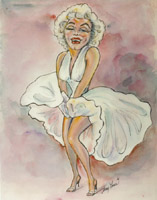 marilyn monroe caricature by sherry lane