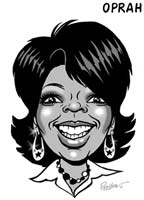 oprah winfrey caricature by preston lindsay