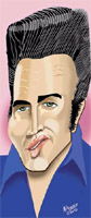 elvis presley caricature by  mel lothrop