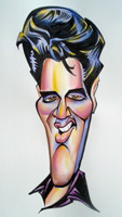 elvis presley caricature by  mark hall