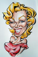 marilyn monroe caricature by mark hall