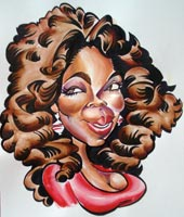 oprah winfrey caricature by mark hall