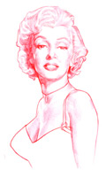 caricature by matt hennen of marilyn monroe