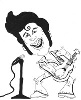 elvis presley caricature by  by bill michel