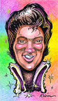 elvis presley caricature by  kevin middleton