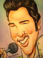 elvis presley caricature by  keith middleton
