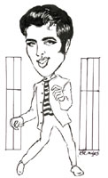 elvis presley caricature by  eve myles