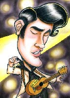 nathan lueth caricature of elvis presley