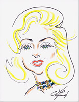 marilyn monroe caricature by gordon ng