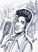 caricature of elvis presley by howie noel