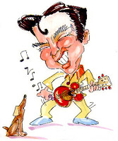 elvis presley caricature by  rich nowak