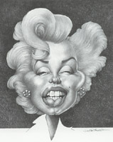 marilyn monroe caricature by jan op debeeck