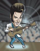 elvis presley caricature by  jess perna