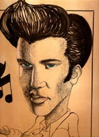 elvis presley caricature by  mike posey
