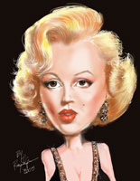 ray shipman caricature of marilyn monroe