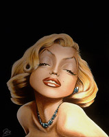 marilyn monroe caricature by ric m