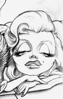 marilyn monroe caricature by sundini
