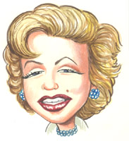marilyn monroe caricature by kent roberts