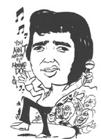 elvis presley caricature by  laura schoppa