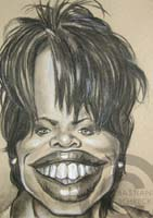 caricature of oprah by bastian schreck