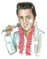 elvis presley caricature by  sedat kaya