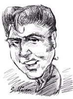 elvis presley caricature by  david sullivan