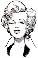 celebrity caricature by tc quinn of marilyn monroe