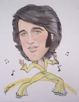 elvis presley caricature by  barbara thornton