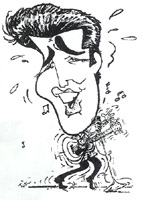 elvis presley caricature by  dominick tucci