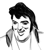 elvis presley caricature by  leo urias
