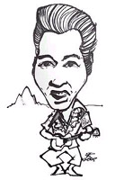 elvis presley caricature by  robert westall