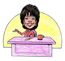 color caricature of oprah winfrey by bill wylie