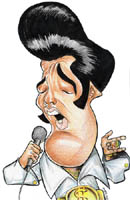 color caricature of elvis presley by eklisleno ximenes