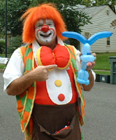 photo of bebo the clown with blues clues balloon