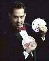 Jim Nieb shows his mystifying card tricks