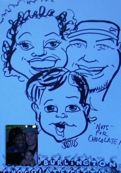 David Fliss Party Caricature