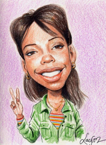 Party caricature by Layron DeJarnette