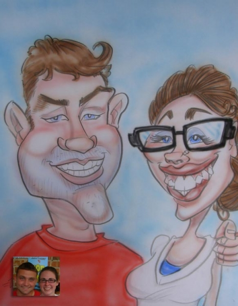 Jimmy Valentine Party Caricature