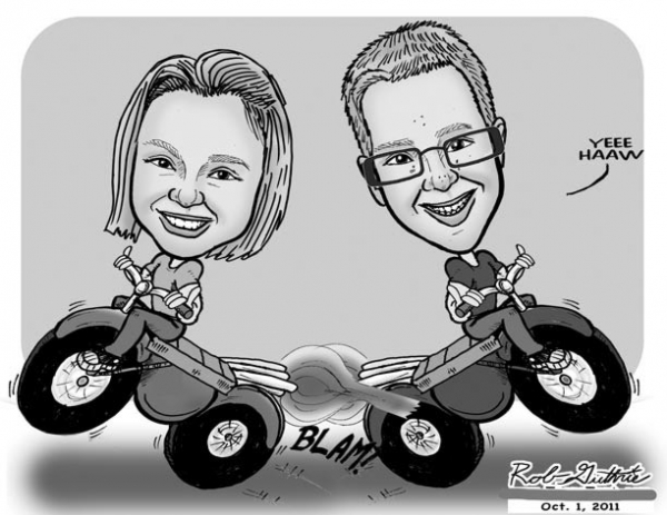 Rob Guthrie Party Caricature