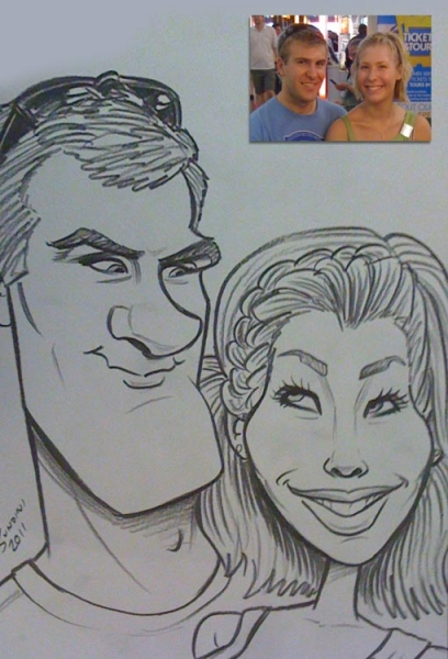 Robert Sundin Party Caricature