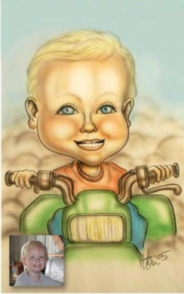 Party caricature by Steve Dhanson