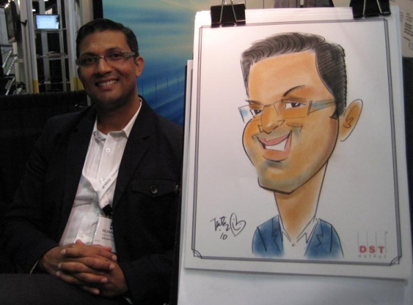 Peter Scott Party Caricature