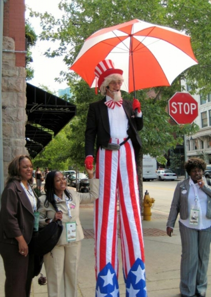 Bill Coleman Stilt Walker