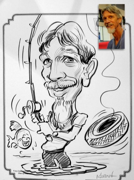 Kourosh Solaimani Party Caricature