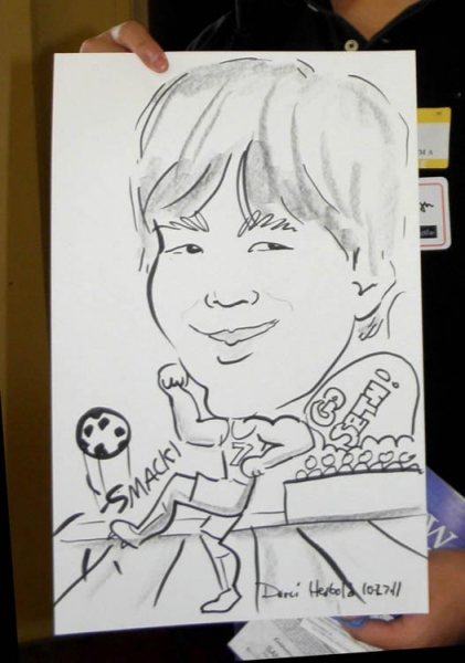 Darci Herbold Party Caricature