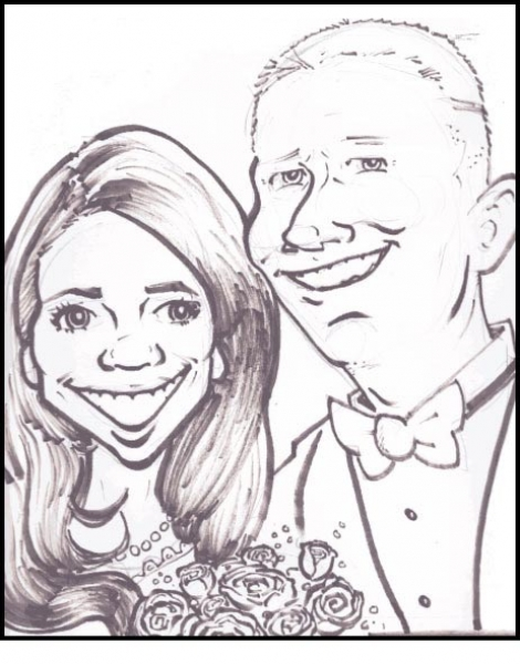 Bill Leaseburg Party Caricature