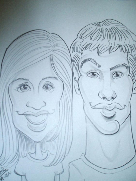 Jacob Hight Party Caricature