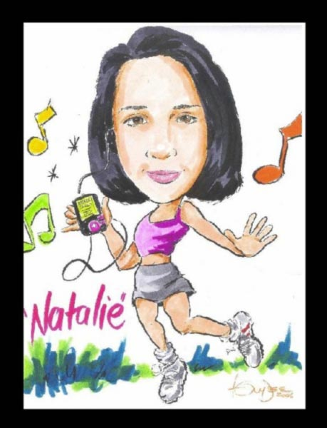 Party caricature by Tony 'Dee' Di Gregorio