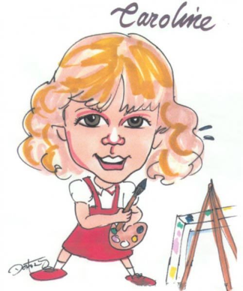 Party caricature by John Doherty